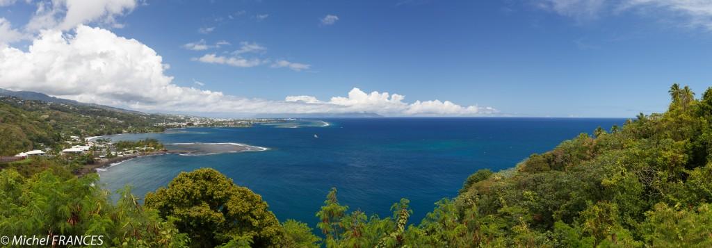 Point de vue sur Papeete depuis le belvédère de la pointe Taharaa