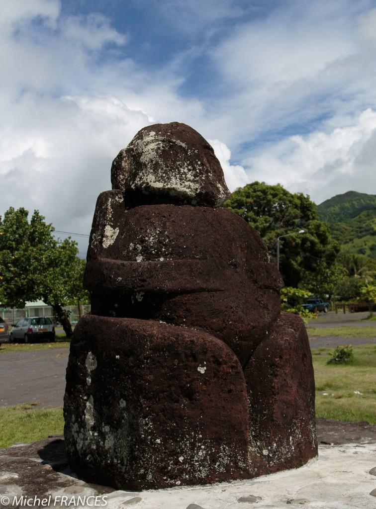 Statue tiki à Tautira